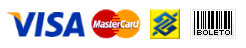 Visa, Mastercard, Transferência bancária, Boleto bancário